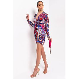 ALL THE COLORS SHIRT DRESS