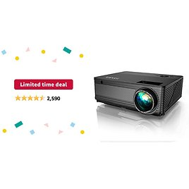 Limited-time Deal: YABER Y21 Native 1920 X 1080P Projector 7800L Upgrad Full HD Video Projector, Support 4k & Zoom, Home & Outdoor Projector Compatible W/TV Stick,HDMI,VGA,USB, IPhone,Android,Laptop,PS4,Xbox