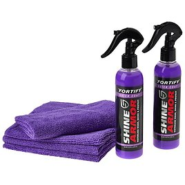 New! Shine Armor Fortify Quick Coat Waterless Car Wash 2-pack