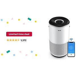 Limited-time Deal: LEVOIT Air Purifier for Home Large Room, Smart WiFi and Alexa Control, H13 True HEPA Filter for Allergies, Pets, Smoke, Dust, Auto Mode, Monitor Air Quality with PM2.5 Display, Core 400S, White