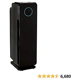 GermGuardian True HEPA Filter Air Purifier, UV Light Sanitizer, Eliminates Germs, Filters Allergies, Pets, Pollen, Smoke, Dust, Mold, Odors, Quiet 22 Inch, 5-in-1 Air Purifier for Home, Black