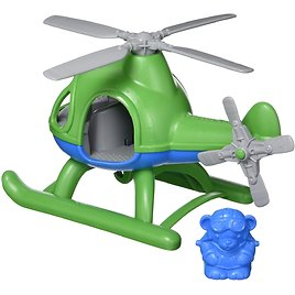Green Toys Helicopter with Pilot Bear Figure