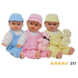 The New York Doll Collection Triplet Baby Dolls - Toy Baby Doll Accessories Gift Set for Toddler and Girls They Will Love - Triplets Doll Set Includes Girl and Boy Doll (B171)