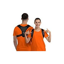 Comfy Brace Posture Corrector-Back Brace for Men and Women- Fully Adjustable Straightener for Mid, Upper Spine Support- Neck, Shoulder, Clavicle and Back Pain Relief-Breathable,: Industrial & Scientific