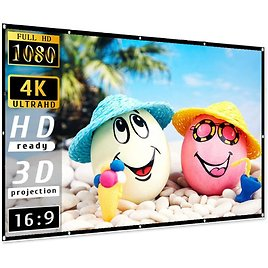 Taotique 4K Movie Projector Screen 16:9 HD Foldable and Portable