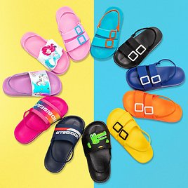 70%off Kids Slippers Sandals Candy Color Amazon
