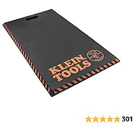 Klein Tools 60136 Kneeling Pads, Adult Mens Large Soft Thick Closed Cell Soft Foam Professional Tradesman Pro Pads with Handle