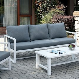 Lauria 80.75'' Wide Outdoor Patio Sofa with Cushions