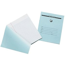 """Pacon Exam Notebook, 7"""" X 8.5"""", Wide Ruled, 12 Sheets, Blue (BB7824)"""