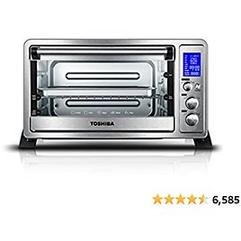 Toshiba AC25CEW-SS Digital Toaster Oven with Convection Cooking