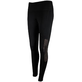 90 Degree By Reflex Women's 26-inch Leggings with Fishnet Mesh Combo Contrast