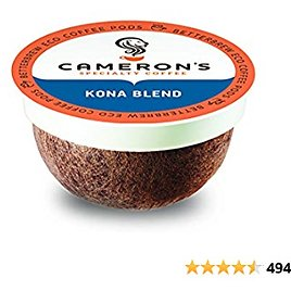 Cameron's Coffee Single Serve Pods, Kona Blend, 12 Count (Pack of 6)