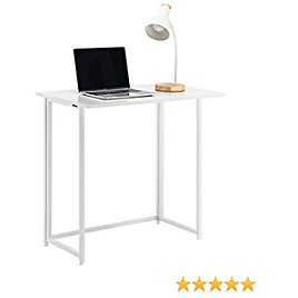 """YOUDENOVA Folding Desk Foldable Table 31.5"""" Portable Small Desks for Small Spaces No Assembly Writing Computer Desk White"""