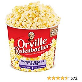 47% OFF! Orville Redenbacher's Movie Theater Butter Popcorn Tub, 3.9 Ounce, Pack of 12