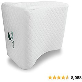 Cushy Form Knee Pillow for Side Sleepers - Sciatic Nerve Pain Relief Leg Pillow for Sleeping - Sciatica, Pregnancy, Hip, Lower Back - Memory Foam Orthopedic Contour Wedge w/ Washable Cover