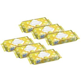 """Lysol® Disinfecting Wipes, Lemon And Lime Blossom, 7"""" X 8"""", 17.7 Oz, 80 Wipes Per Flat Pack, Carton Of 6 Flat Packs"""