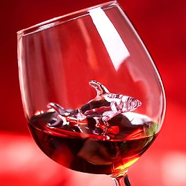 DRINKMALL Shark Wine Glass Set of 2 Only for $11.99