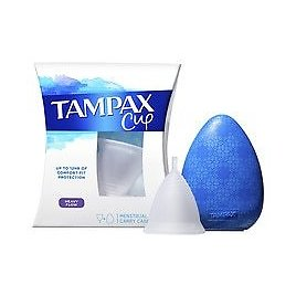 Tampax Cup, with Carrying Case