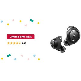 Limited-time Deal: Soundcore By Anker Life A1 True Wireless Earbuds, Powerful Customized Sound, 35H Playtime, Wireless Charging, USB-C Fast Charge, IPX7 Waterproof, Button Control, Bluetooth Earbuds, Commute, Sports