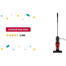 Limited-time Deal: Eureka Vacuum Cleaner Powerful Suction Small Handheld Vac with Filter for Hard Floor Lightweight Upright Home Pet Hair, 1-(Pack), Light Red