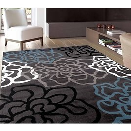 World Rug Gallery Contemporary Modern Floral Flowers Area Rug