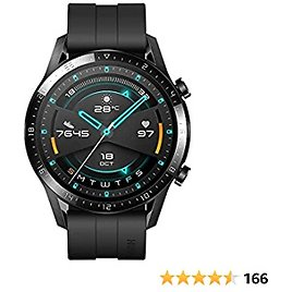 HUAWEI Watch GT 2 2019 Bluetooth Smart Watch, Sport GPS 14 Days Working Fitness Tracker, Blood Oxygen Monitor Heart Rate Tracker Waterproof for Android and IOS, 46mm, Matte Black