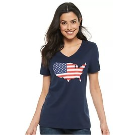 Sonoma Goods For Life Womens Patriotic Graphic Tee