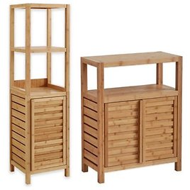 Haven™ No Tools Bamboo Bathroom Furniture Collection | Bed Bath & Beyond