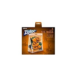 Ziploc Storage Bags, Double Zipper Seal & Expandable Bottom, Large, 4 Count, Big Bags with Halloween Designs: Health & Personal Care