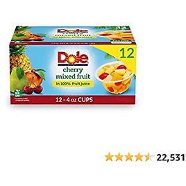 Dole Mixed Fruit Cups 12-Count