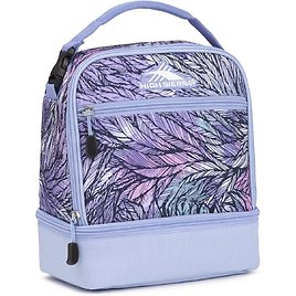 High Sierra Stacked Compartment Lunch Bag, Feather Spectre/Powder Blue, One Size