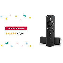 Limited-time Deal: Fire TV Stick 4K Streaming Device with Alexa Voice Remote | Dolby Vision | 2018 Release