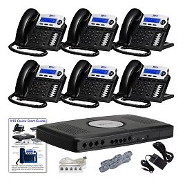 XBLUE X16 Phone System Bundle With 6 X16 Telephones Charcoal - Office Depot