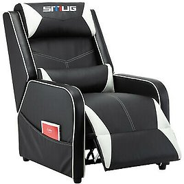 Racing Style Single Recliner Sofa with Cushion
