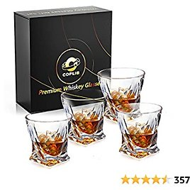 Set of 4 Old Fashioned Whiskey Glasses with Luxury Box for Only $18.39