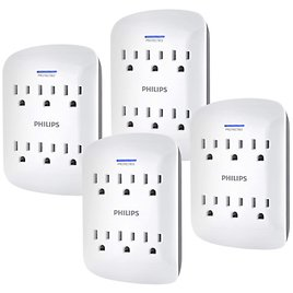 4-Pack Philips 6-Outlet Extender Surge Protector for $19.99