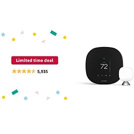 Limited-time Deal: Ecobee SmartThermostat with Voice Control