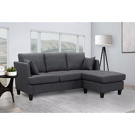 Lily Fabric Sectional, Assorted Colors - Sam's Club