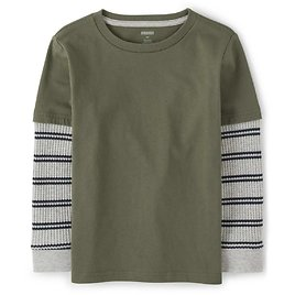Gymboree Boys' Striped Thermal 2 In 1 Top