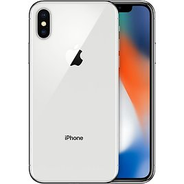 SAVE $350 ! IPhone X 64GB - Silver (Unlocked) + EarPods with Lightning Connector+ Lightning to USB Cable - Apple | Refurbished