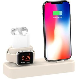 45% OFF! 3-in-1 Charging Station Silicone for Apple Watch, Airpods, and IPhone (available in Different Colors)