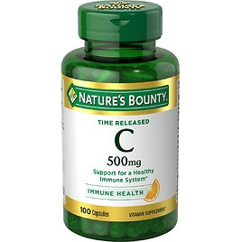 Nature's Bounty Vitamin C Time Release Capsules, 500 Mg, 100 Ct