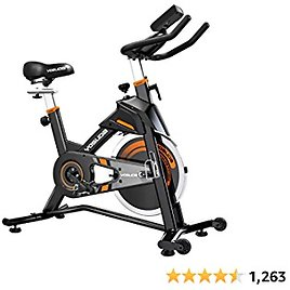 YOSUDA Indoor Cycling Bike Stationary - Exercise Bike for Home Gym with Comfortable Seat Cushion, Silent Belt Drive- Amazon