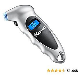 AstroAI Digital Tire Pressure Gauge 150 PSI 4 Settings for Car Truck Bicycle with Backlit LCD and Non-Slip Grip, (1 Pack) - Ama