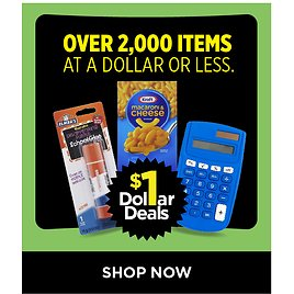 Over 2,000 items at a $1 or less every day