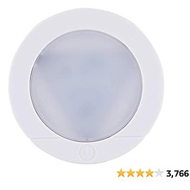 Energizer LED Puck Light, Wireless, Battery Operated, 20 Lumens, Touch Activated On/Off, Bright White Light, Ideal for Closets, Cabinets, Attic, Garage and More, 37366