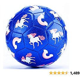 CubicFun Kids Soccer Ball Size 3 Glitter Effect with Pump, Sports & Kids Outdoor Toys for Toddlers Age 2-4 Outdoor Toys for Kids Ages 4-8, Toddler Toys for 3 Year Old Girls Gifts Toys for 4 5 Year Old