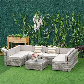 Outsunny 7-Piece Outdoor Patio Furniture Set