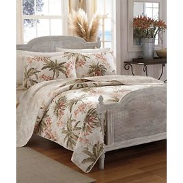 71% OFF! Tommy Bahama Bonny Cove White Reversible 3-Piece Full/Queen Quilt Set