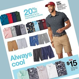 (6/13) Men's Apparel Savings from $7.99 + extra 20% Off